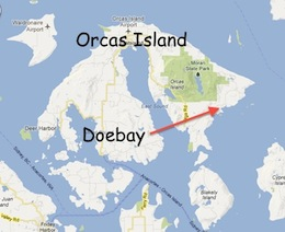 Map of Orcas and Doebay